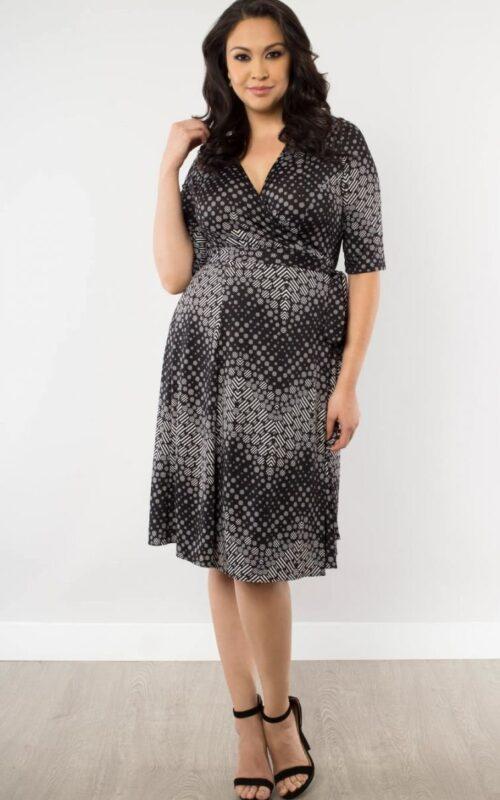 Plus size wrap dress size 0xl-5xl